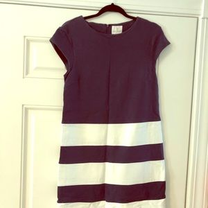 JB by Julie Brown Size Medium Navy and White Dress